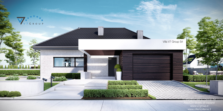 Immagine Villa V32 (progetto originale) - vista frontale garage grande