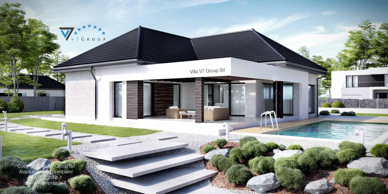Immagine Villa V32 (progetto originale) - vista giardino grande
