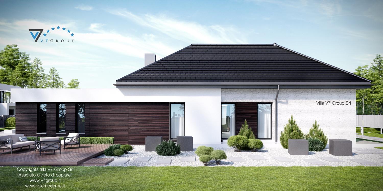 Immagine Villa V32 (progetto originale) - vista laterale giardino grande