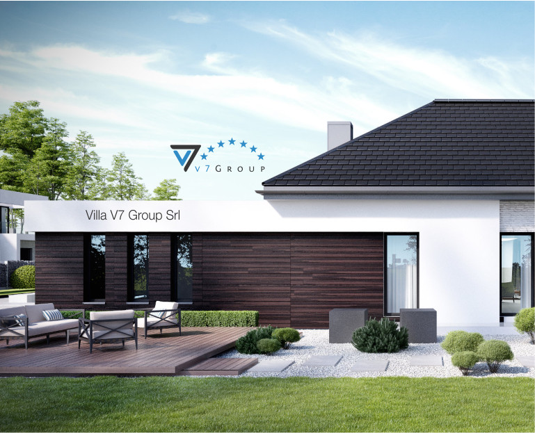 Immagine Villa V32 (progetto originale) - vista laterale giardino piccola
