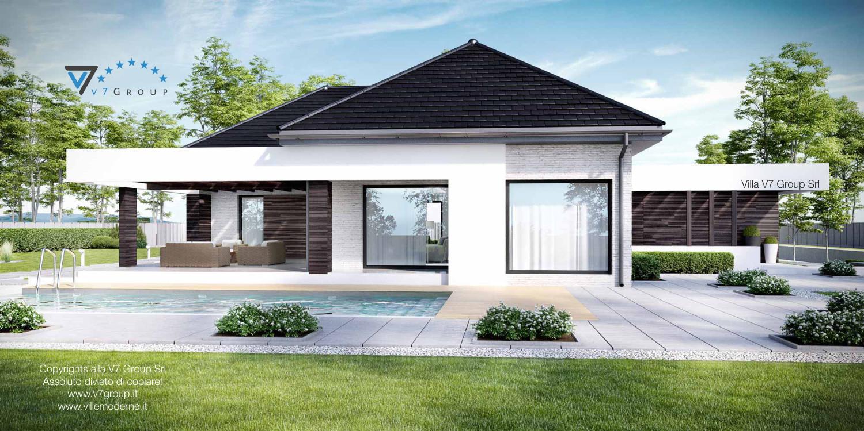 Immagine Villa V32 (progetto originale) - vista piscina grande