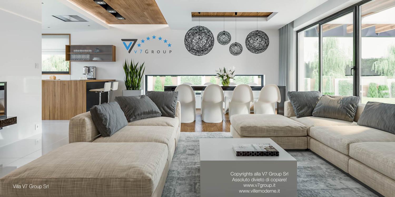 Immagine Villa V33 (progetto originale) - il divano in un soggiorno