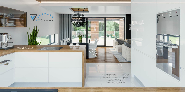 Immagine Villa V33 (progetto originale) - gli interni della cucina e sala da pranzo