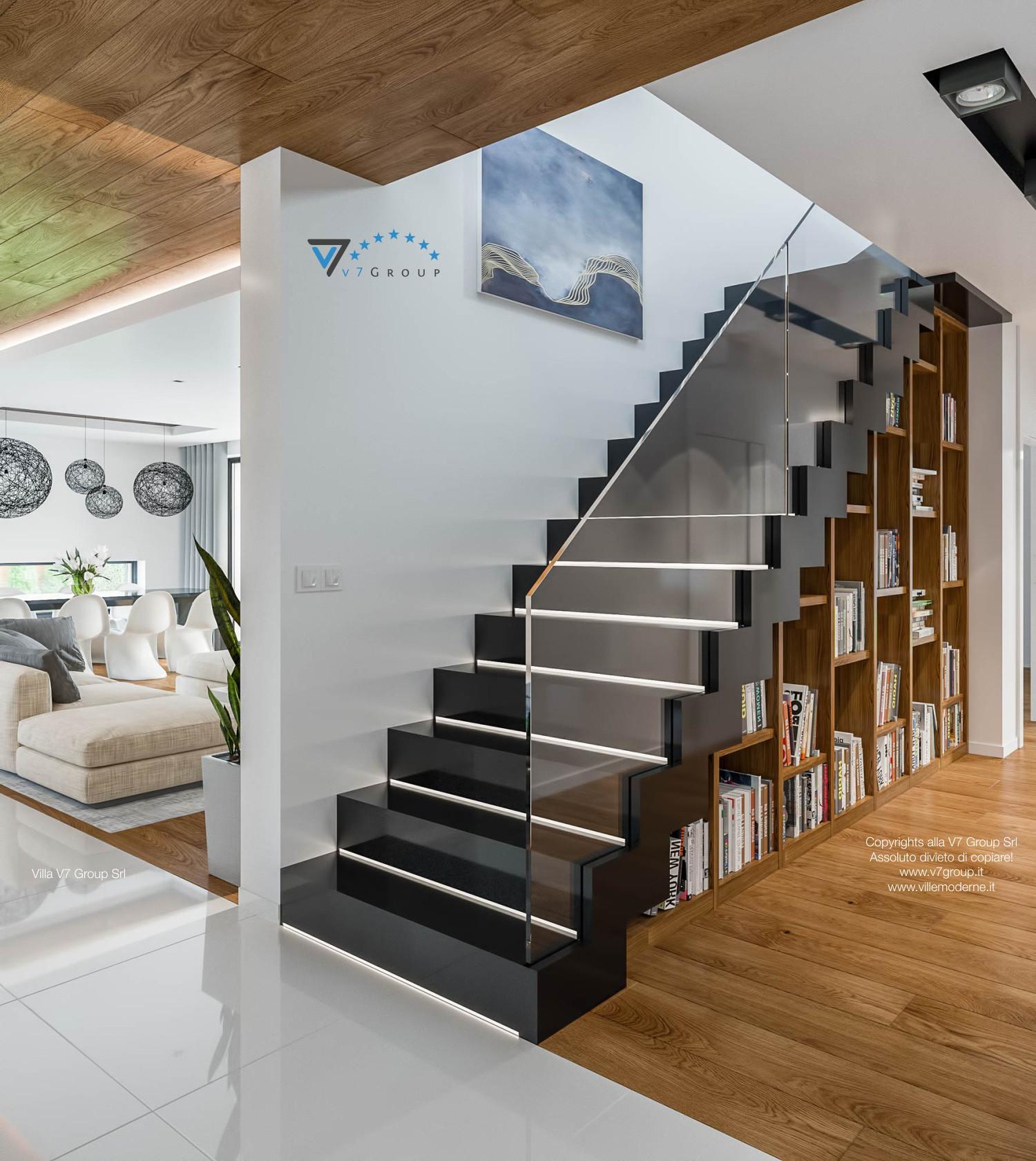 Immagine Villa V33 (progetto originale) - scale in legno nobile