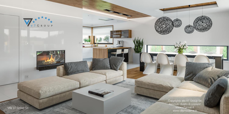 Immagine Villa V33 (progetto originale) - interno 2 - soggiorno e cucina