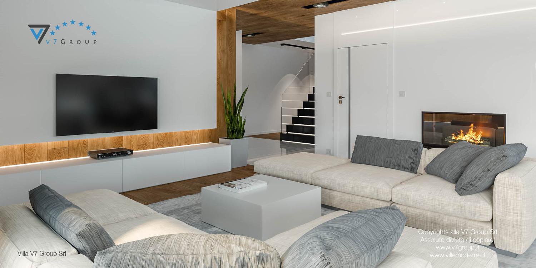 Immagine Villa V33 (progetto originale) - il soggiorno e le scale in legno
