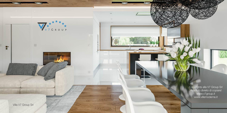 Immagine Villa V33 (progetto originale) - la sala da pranzo