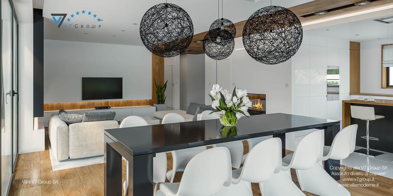 Immagine Villa V33 (progetto originale) - il tavolo nero e le sedie bianche