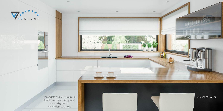 Immagine Villa V33 (progetto originale) - vista della cucina bianca