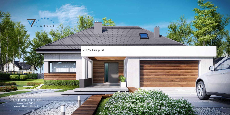 Immagine Villa V33 (progetto originale) - vista frontale garage grande
