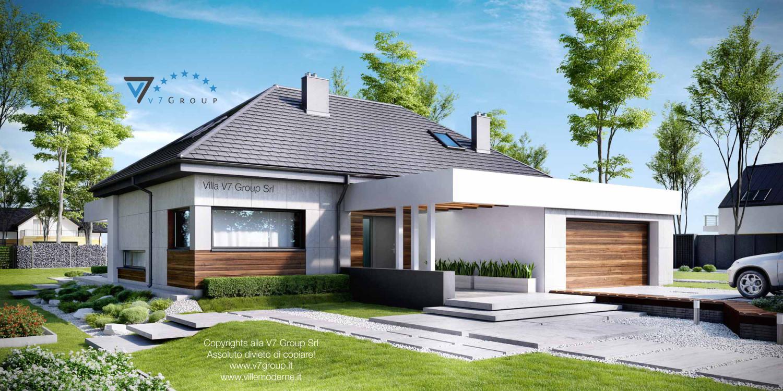 Immagine Villa V33 (progetto originale) - vista frontale grande