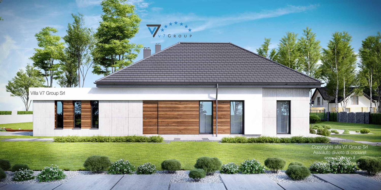 Immagine Villa V33 (progetto originale) - vista laterale grande