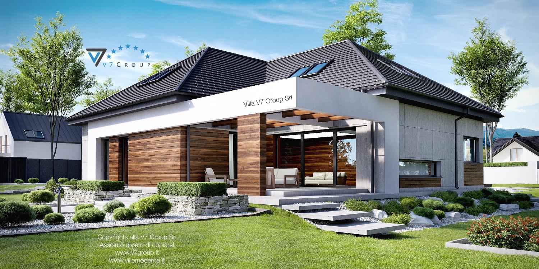 Immagine Villa V33 (progetto originale) - vista terrazzo esterno grande