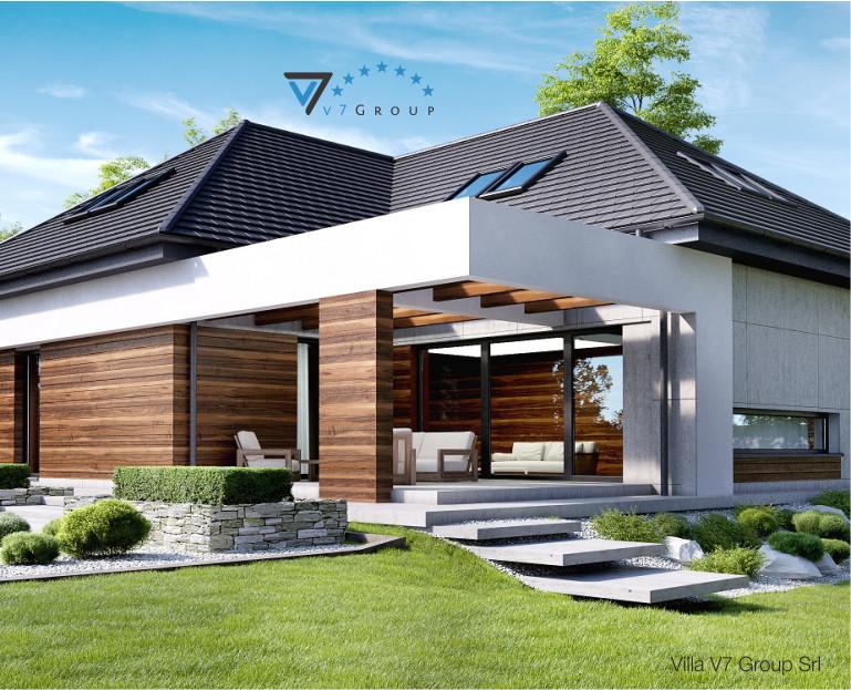 Immagine Villa V33 (progetto originale) - vista terrazzo esterno piccola