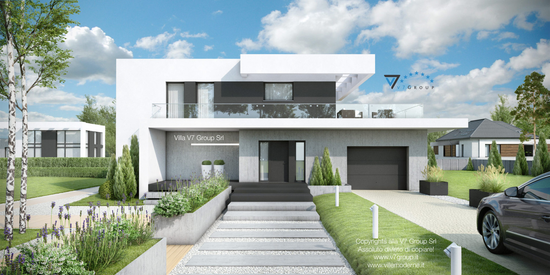 Immagine Villa V34 (progetto originale) - il portone d'ingresso e il garage