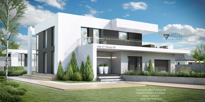 Immagine Villa V34 (progetto originale) - il lato della villa