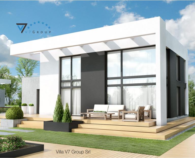 Immagine Villa V34 (progetto originale) - il terrazzo esterno della villa