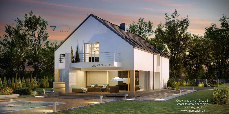 Immagine Villa V35 (progetto originale) - il giardino con il terrazzo esterno