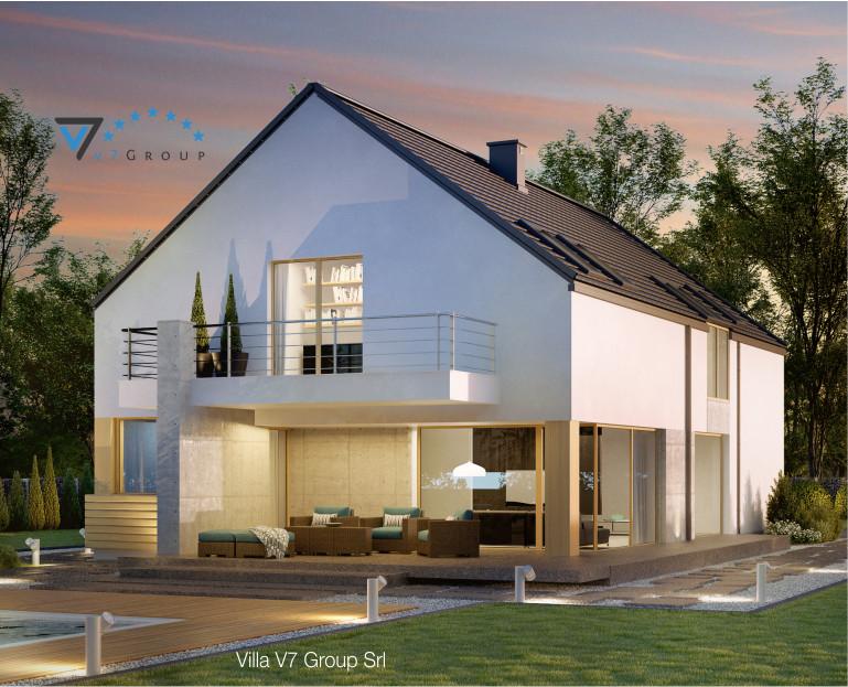 Immagine Villa V35 (progetto originale) - il terrazzo esterno in dettaglio