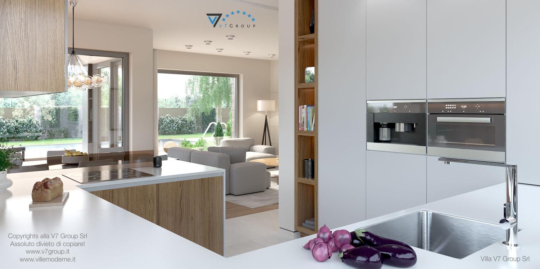 Immagine Villa V36 (progetto originale) - interno 11 - soggiorno e cucina