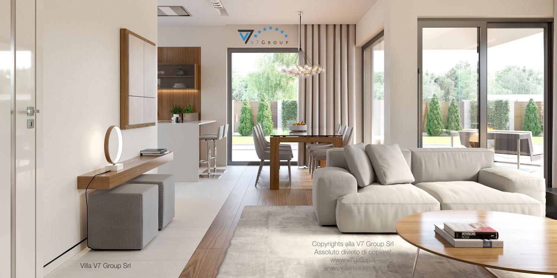 Immagine Villa V36 (progetto originale) - interno 2 - corridoio e soggiorno