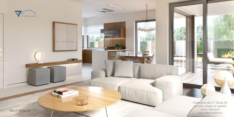 Immagine Villa V36 (progetto originale) - interno 3 - cucina e soggiorno