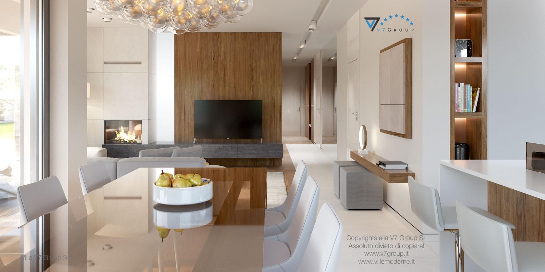 Immagine Villa V36 (progetto originale) - interno 7 - corridoio e soggiorno