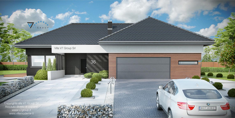 Immagine Villa V36 (progetto originale) - vista frontale garage grande