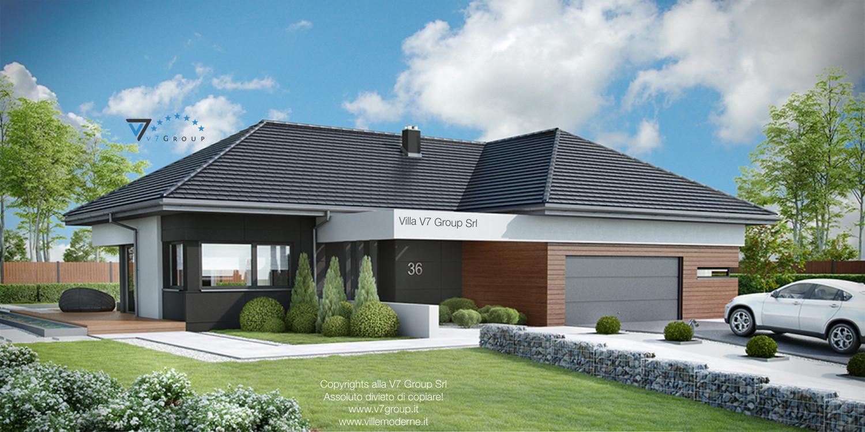 Immagine Villa V36 (progetto originale) - vista frontale grande
