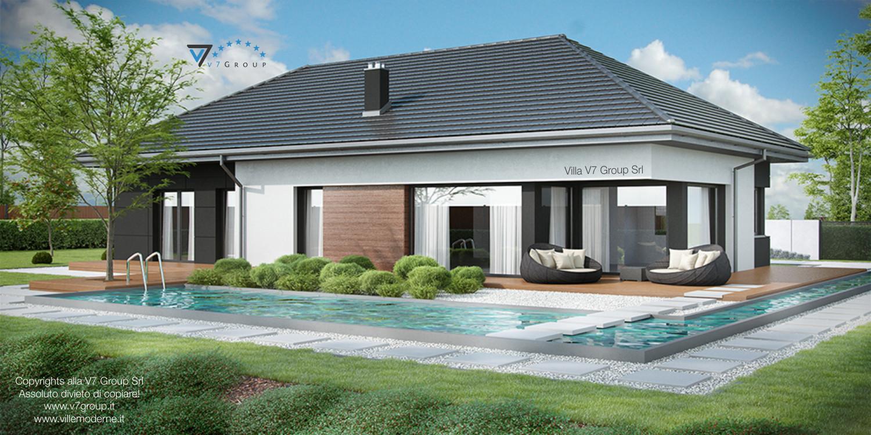 Immagine Villa V36 (progetto originale) - vista giardino grande