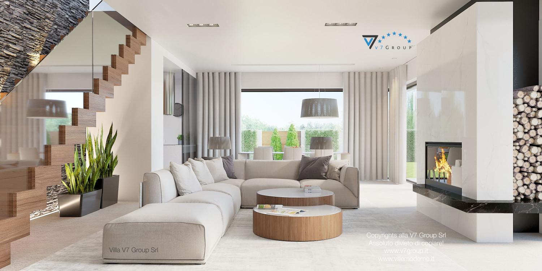 Immagine Villa V37 (progetto originale) - il soggiorno accogliente