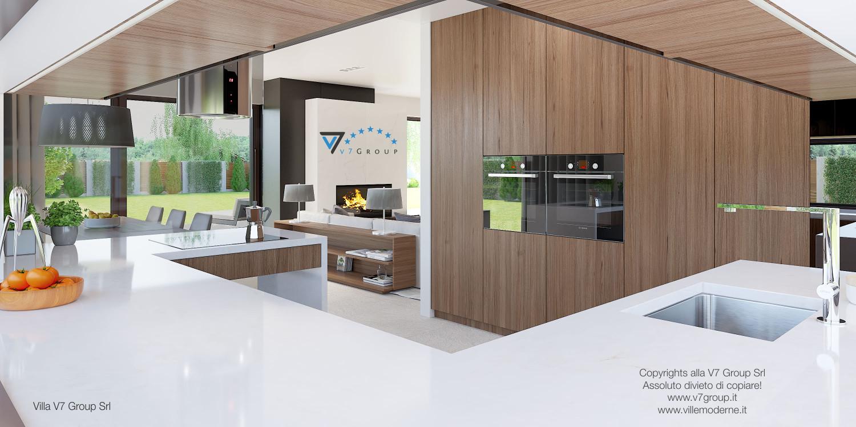 Immagine Villa V37 (progetto originale) - interno 10 - cucina e soggiorno