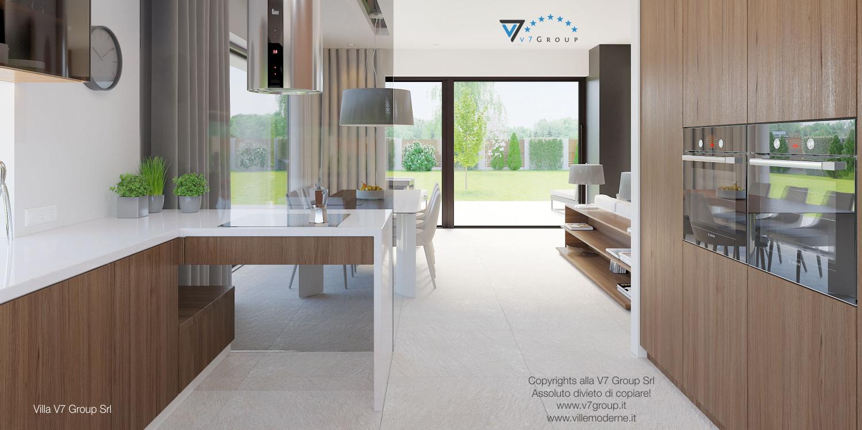 Immagine Villa V37 (progetto originale) - interno 11 - cucina e sala da pranzo