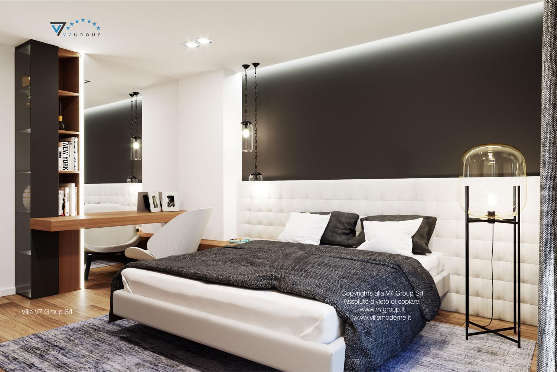 Immagine Villa V37 (progetto originale) - la camera matrimoniale illuminata