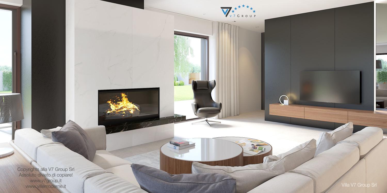 Immagine Villa V37 (progetto originale) - il design del soggiorno moderno