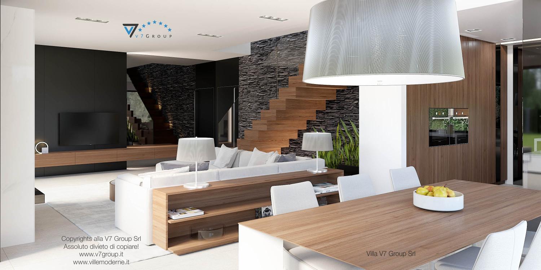 Immagine Villa V37 (progetto originale) - interno 5 - soggiorno e corridoio