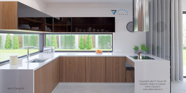Immagine Villa V37 (progetto originale) - la sistemazione della cucina
