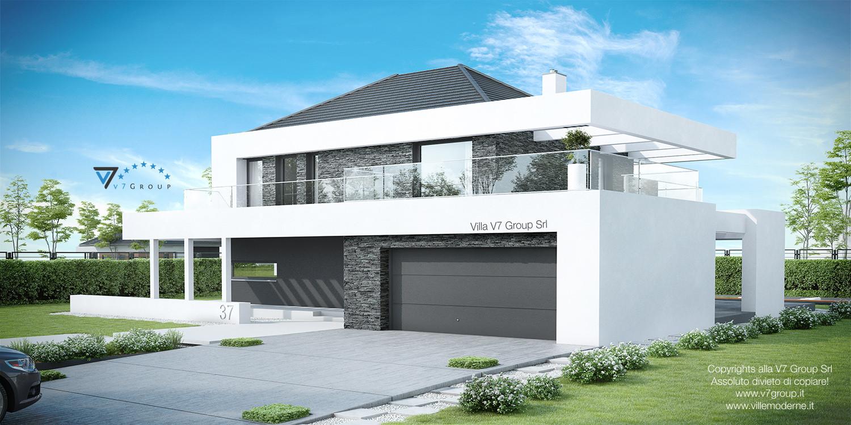 Immagine Villa V37 (progetto originale) - vista frontale garage grande