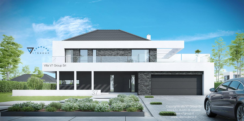 Immagine Villa V37 (progetto originale) - vista frontale grande