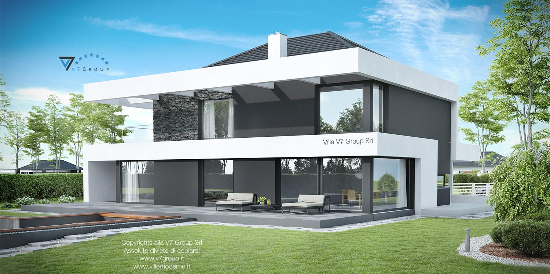 Immagine Villa V37 (progetto originale) - vista giardino grande