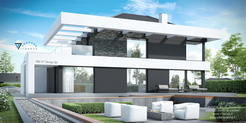 Immagine Villa V37 (progetto originale) - vista terrazzo esterno grande