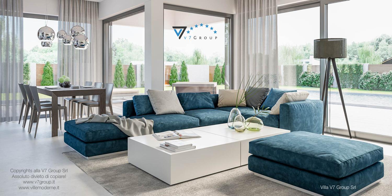Immagine Villa V38 (progetto originale) - interno 1 - soggiorno