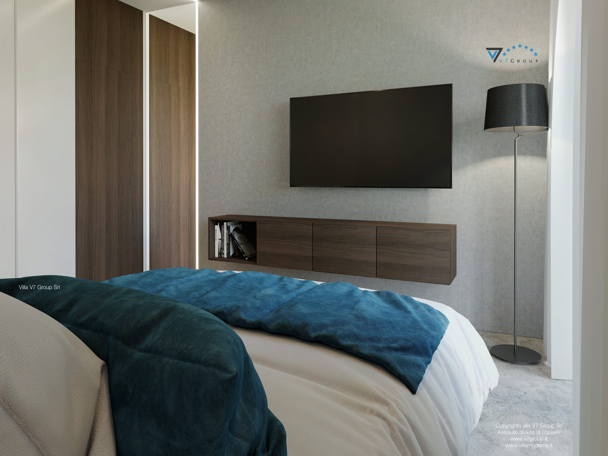 Immagine Villa V38 (progetto originale) - interno 14 - camera matrimoniale