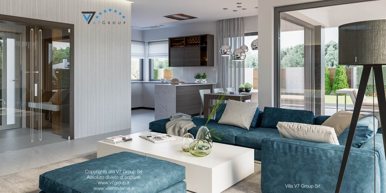 Immagine Villa V38 (progetto originale) - interno 2 - soggiorno e cucina