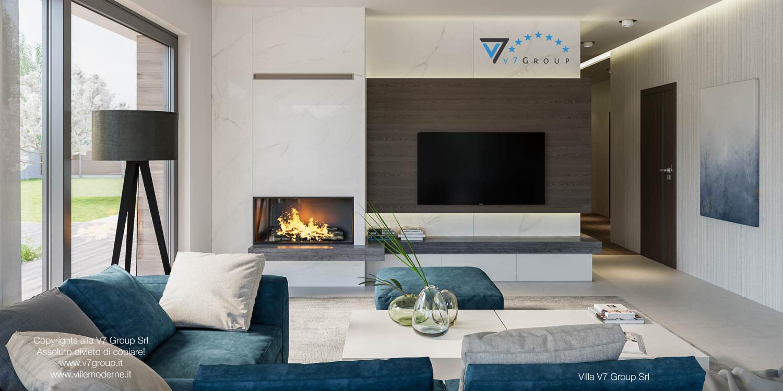 Immagine Villa V38 (progetto originale) - interno 3 - soggiorno e corridoio