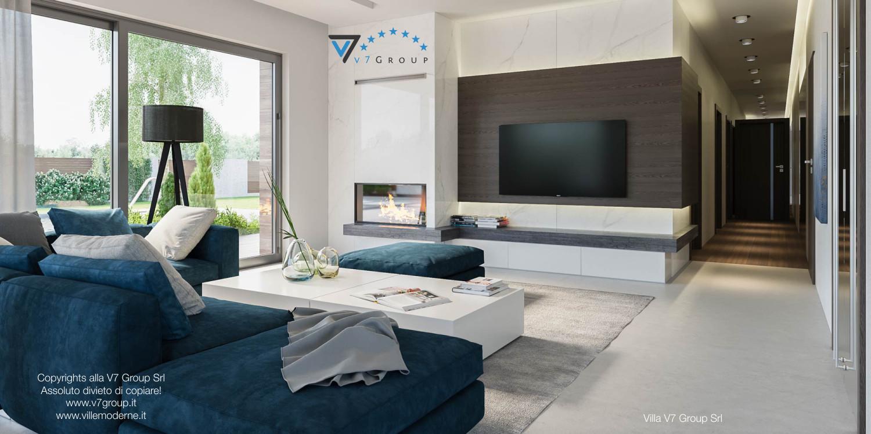 Immagine Villa V38 (progetto originale) - interno 4 - soggiorno e corridoio
