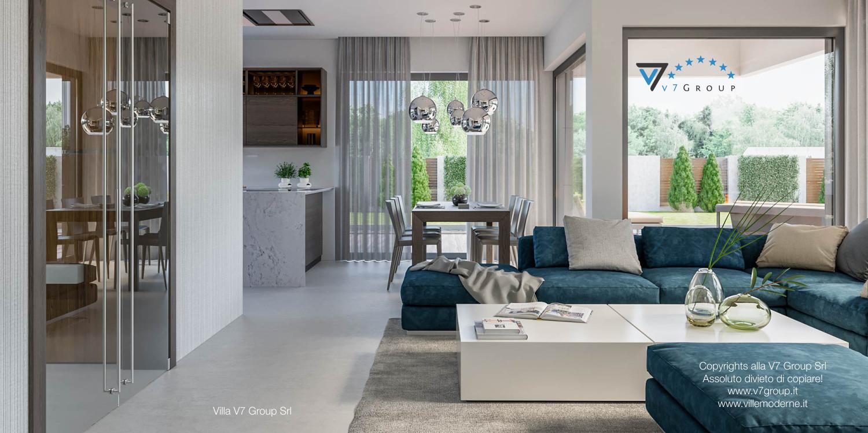 Immagine Villa V38 (progetto originale) - interno 5 - sala da pranzo e corridoio