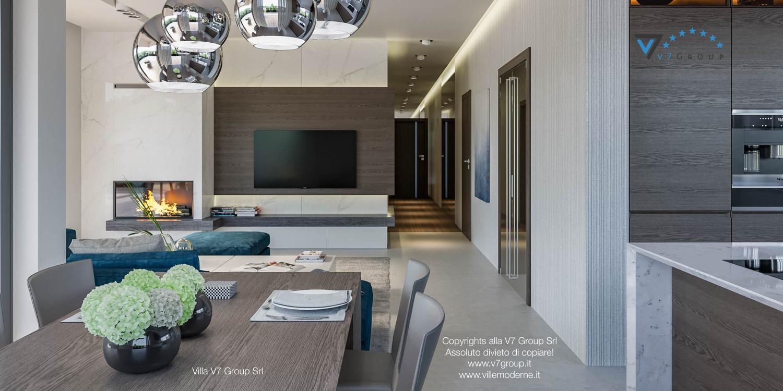 Immagine Villa V38 (progetto originale) - interno 6 - sala da pranzo e corridoio