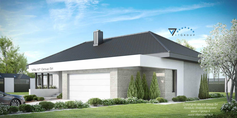 Immagine Villa V38 (progetto originale) - vista frontale garage grande