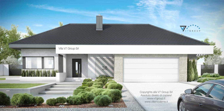 Immagine Villa V38 (progetto originale) - vista frontale grande